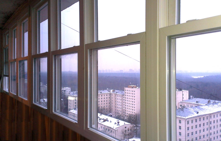 Раздвижные окна на балкон: виды, фото, описание.